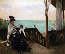 Schilderijbehang - Morisot - In a villa on the beach