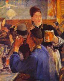 Schilderijbehang - Manet - Beer Waitress