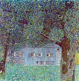 Schilderijbehang - Klimt - Farmhouse in upper Austria