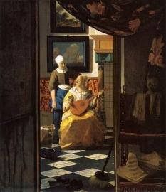 Schilderijbehang - Vermeer - De Liefdesbrief