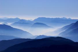 Fotobehang - Bergen - blauwe bergen