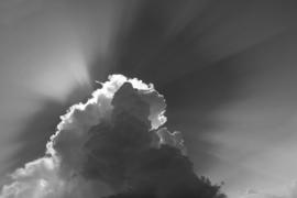 Fotobehang - Wolken zwart/wit