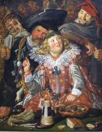 Schilderijbehang - Hals - Het vrolijk gezelschap