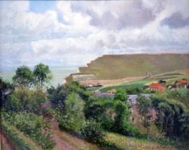 Schilderijbehang Pissarro - Vue de Berneval