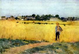 Schilderijbehang - Morisot - Cornfield / Korenveld