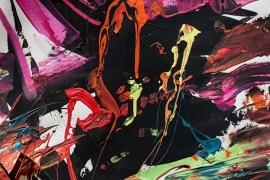 Schilderijbehang  met Abstracte Kunst - Zonder titel nr. 06