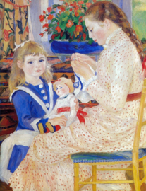 Schilderijbehang - Renoir - Children in the afternoon (detail)