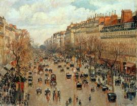 Schilderijbehang Pissarro - Boulevard de Montmartre ( Parijs )