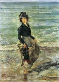 Schilderijbehang - Corinth - Beach scene