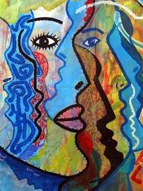 Schilderijbehang met Graffiti - Artistic