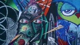 Schilderijbehang met Graffiti - Eyes