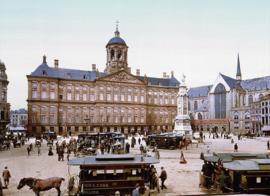 Fotobehang oud Amsterdam - Paleis op de Dam ( anno ca. 1900 )
