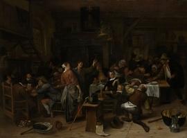 Schilderijbehang  Jan Steen - Prinsjesdag