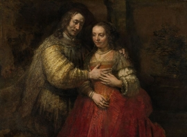 Schilderijbehang  met Religieuze Kunst - De Joodse Bruid