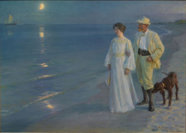 Schilderijbehang - Peder Severin  - Summer evening at Skagen