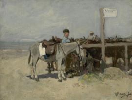 Schilderijbehang - Anton Mauve - Ezelstandplaats Scheveningen