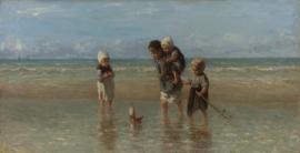 Schilderijbehang - Jozef Israels - Kinderen der zee