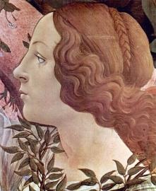 Schilderijbehang Botticelli -  Birth of Venus (detail 2)