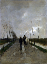 Schilderijbehang - Mauve - Hollandse weg - A Dutch road
