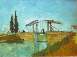 Schilderijbehang - Van Gogh - Brug bij Arles