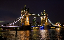 Fotobehang - Londen - Tower Bridge by night