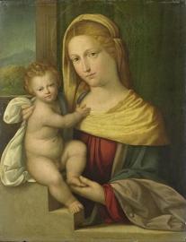 Schilderijbehang  met Religieuze Kunst - Maria met Kind