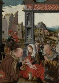 Schilderijbehang  met Religieuze Kunst - De aanbidding van de drie Koningen