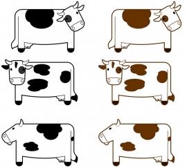 Fotobehang - Kinderkamer - Koeien - Cows