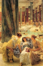 Schilderijbehang Alma Tadema - The Baths of Caracalla