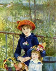 Schilderijbehang - Renoir - Two sisters