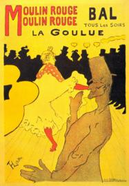 Schilderijbehang - Toulouse Lautrec - Moulin Rouge - La Goulue