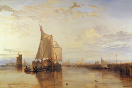 Schilderijbehang -Turner - The Dort packed-boat from Rotterdam