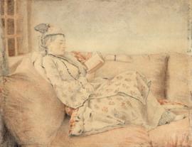Schilderijbehang - Liotard - Lady in Turkish dress