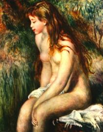 Schilderijbehang - Renoir - Bathing