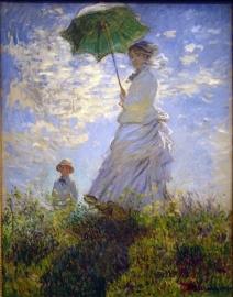 Schilderijbehang - Monet - Umbrella