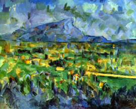 Schilderijbehang - Cézanne - Mont Sainte Victoire