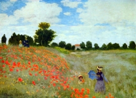 Schilderijbehang - Monet - Poppies