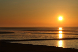 Fotobehang - Waddenzee - Zonsondergang
