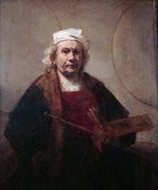 Schilderijbehang - Rembrandt - Selfportrait