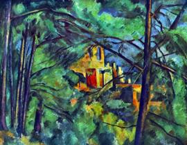 Schilderijbehang - Cézanne - Chateau noir