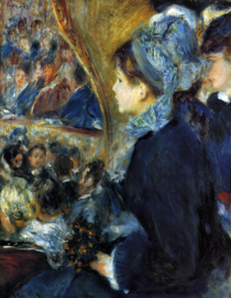 Schilderijbehang - Renoir - At the theatre