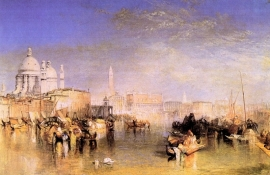 Schilderijbehang -Turner - Venice from the Canal