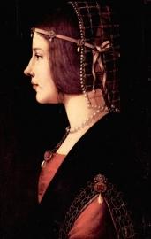 Schilderijbehang - Da Vinci - Portrait of a Lady - Beatrice