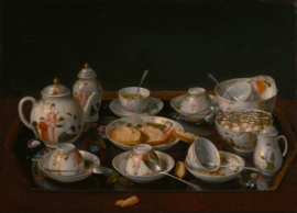 Schilderijbehang - Liotard - Stilleven - Stillife Tea set