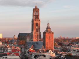 Fotobehang - Buurkerk en Domtoren Utrecht
