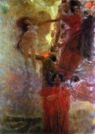 Schilderijbehang - Klimt - Medicine