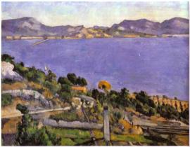 Schilderijbehang - Cézanne - Marseille 1878