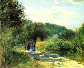 Schilderijbehang - Renoir - Road to Louveciennes