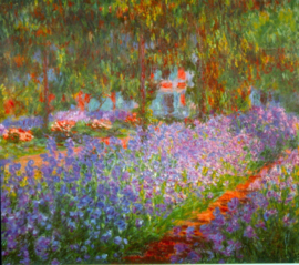 Schilderijbehang - Monet - Monet's garden