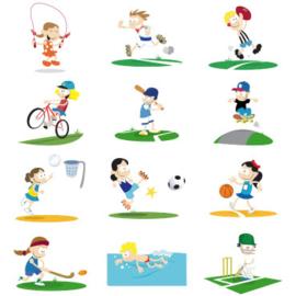 Fotobehang Kinderkamer - Lekker Sporten